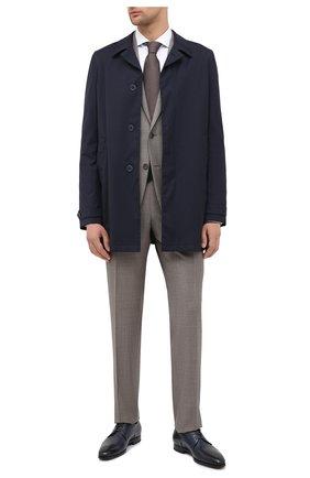 Мужской кожаные дерби SANTONI темно-синего цвета, арт. MCLE16204SI1ESCSU53 | Фото 2