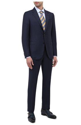 Мужские кожаные монки SANTONI темно-синего цвета, арт. MGSI14549SM0ICLBU42 | Фото 2