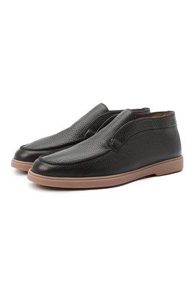 Мужские кожаные ботинки SANTONI темно-коричневого цвета, арт. MGYA16715TISAADCT50 | Фото 1