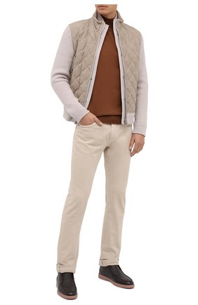 Мужские кожаные ботинки SANTONI темно-коричневого цвета, арт. MGYA16715TISAADCT50 | Фото 2