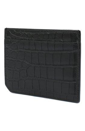 Мужской кожаный футляр для кредитных карт SAINT LAURENT черного цвета, арт. 629908/DZE0W | Фото 2