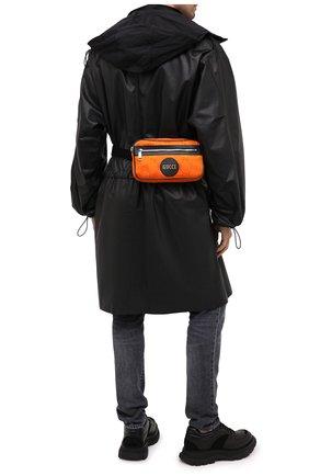 Мужская поясная сумка off the grid GUCCI оранжевого цвета, арт. 631341/H9HBN | Фото 2 (Ремень/цепочка: На ремешке; Материал: Текстиль)