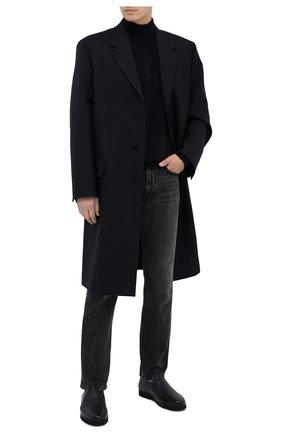 Мужские кожаные лоферы ALDO BRUE темно-синего цвета, арт. AB8145K-MP.L.A99G   Фото 2