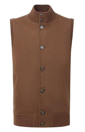 Мужской кашемировый жилет LORO PIANA коричневого цвета, арт. FAI8975 | Фото 1