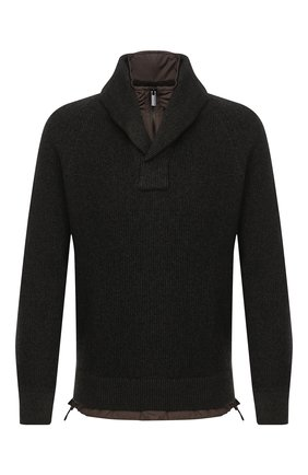 Мужской кашемировый свитер ERMENEGILDO ZEGNA темно-зеленого цвета, арт. UVK82/105   Фото 1