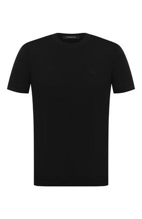 Мужская хлопковая футболка ERMENEGILDO ZEGNA черного цвета, арт. UV526/707R | Фото 1