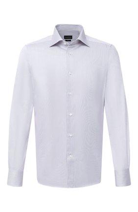 Мужская хлопковая сорочка ERMENEGILDO ZEGNA сиреневого цвета, арт. 801012/9MS0BR | Фото 1
