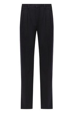Мужской хлопковые брюки ERMENEGILDO ZEGNA темно-синего цвета, арт. UVI04/TP31   Фото 1
