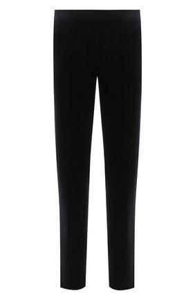 Мужские брюки из хлопка и кашемира ERMENEGILDO ZEGNA черного цвета, арт. 865F02/77TB12 | Фото 1