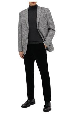 Мужские брюки из хлопка и кашемира ERMENEGILDO ZEGNA черного цвета, арт. 865F02/77TB12 | Фото 2