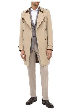 Мужские брюки из шерсти и хлопка ERMENEGILDO ZEGNA бежевого цвета, арт. 857F07/75TB12 | Фото 2
