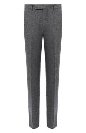 Мужские брюки из шерсти и хлопка ERMENEGILDO ZEGNA серого цвета, арт. 857F03/75TB12 | Фото 1