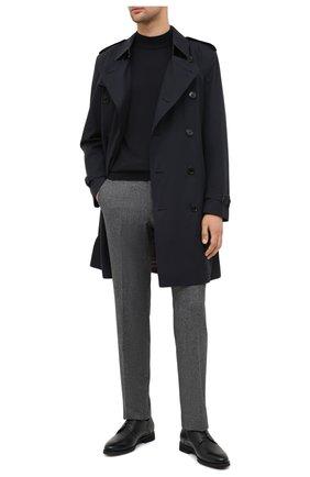 Мужские брюки из шерсти и хлопка ERMENEGILDO ZEGNA серого цвета, арт. 857F03/75TB12 | Фото 2
