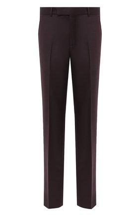 Мужские шерстяные брюки ERMENEGILDO ZEGNA темно-коричневого цвета, арт. 811F05/75SB12 | Фото 1