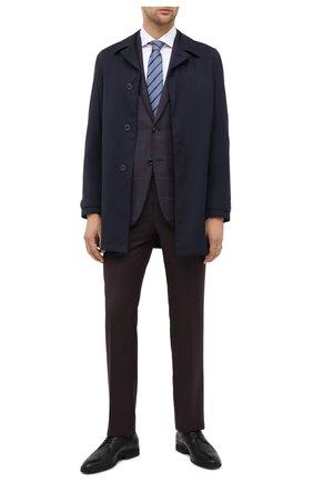 Мужские шерстяные брюки ERMENEGILDO ZEGNA темно-коричневого цвета, арт. 811F05/75SB12 | Фото 2
