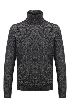 Мужской свитер из шерсти и кашемира ERMENEGILDO ZEGNA серого цвета, арт. UVF85/120 | Фото 1