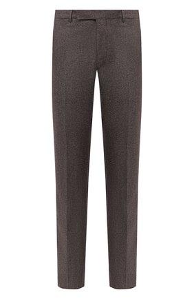 Мужские брюки из шерсти и хлопка ERMENEGILDO ZEGNA коричневого цвета, арт. 857F06/75TB12 | Фото 1
