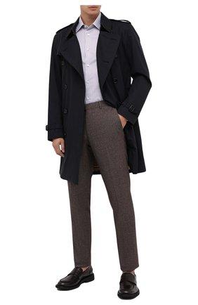 Мужские брюки из шерсти и хлопка ERMENEGILDO ZEGNA коричневого цвета, арт. 857F06/75TB12 | Фото 2