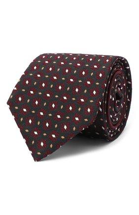 Мужской шелковый галстук ZEGNA COUTURE красного цвета, арт. Z8C02/15C | Фото 1