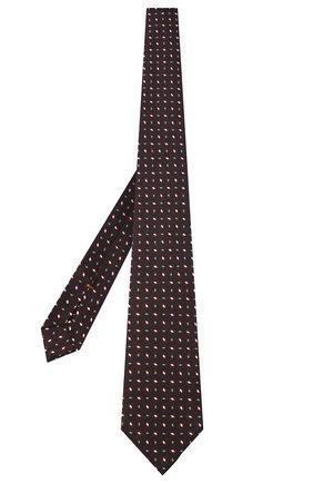 Мужской шелковый галстук ZEGNA COUTURE красного цвета, арт. Z8C02/15C | Фото 2