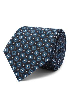 Мужской шелковый галстук ZEGNA COUTURE синего цвета, арт. Z8C01/15C | Фото 1
