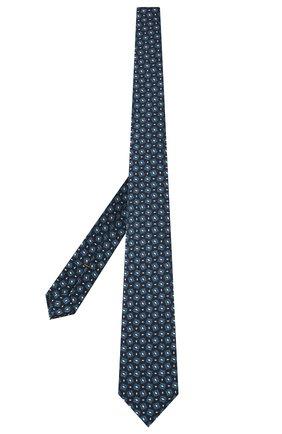 Мужской шелковый галстук ZEGNA COUTURE синего цвета, арт. Z8C01/15C | Фото 2
