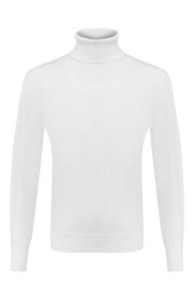 Мужской шерстяная водолазка Z ZEGNA белого цвета, арт. VVM97/ZZ120 | Фото 1 (Длина (для топов): Стандартные; Рукава: Длинные; Материал внешний: Шерсть; Мужское Кросс-КТ: Водолазка-одежда; Принт: Без принта; Стили: Классический)