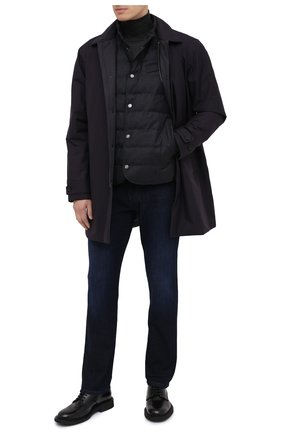 Мужской пуховый жилет Z ZEGNA серого цвета, арт. VV032/ZZ063   Фото 2 (Материал подклада: Синтетический материал; Материал внешний: Шерсть; Длина (верхняя одежда): Короткие; Мужское Кросс-КТ: Верхняя одежда; Стили: Кэжуэл; Кросс-КТ: Пуховик, Куртка)