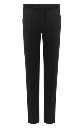 Мужские брюки из шерсти и шелка ERMENEGILDO ZEGNA черного цвета, арт. 813F01/75SB12 | Фото 1
