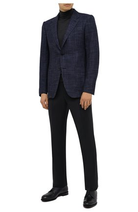 Мужские брюки из шерсти и шелка ERMENEGILDO ZEGNA черного цвета, арт. 813F01/75SB12 | Фото 2
