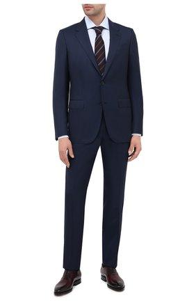 Мужская хлопковая сорочка ERMENEGILDO ZEGNA голубого цвета, арт. 804011/9MS0BA | Фото 2