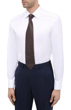 Мужская хлопковая сорочка ERMENEGILDO ZEGNA белого цвета, арт. 804004/9MS0PA | Фото 4