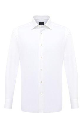 Мужская хлопковая сорочка ERMENEGILDO ZEGNA белого цвета, арт. 801500/9MS0BR | Фото 1