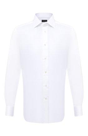 Мужская хлопковая сорочка ERMENEGILDO ZEGNA белого цвета, арт. 801222/9RS0BR | Фото 1