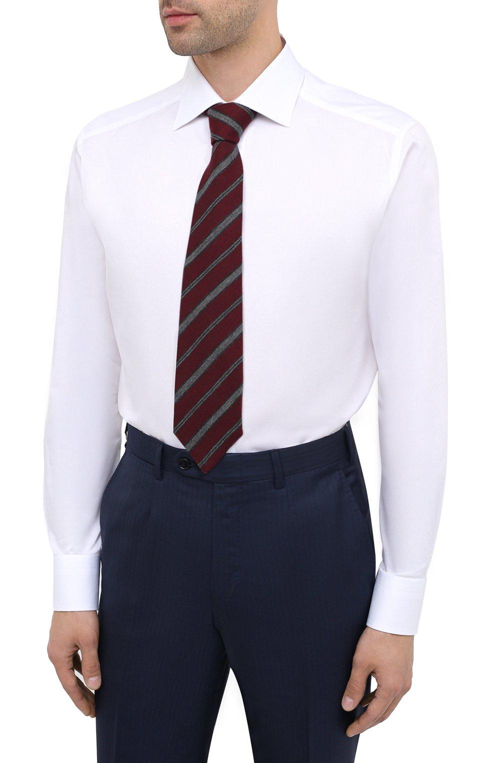Мужская хлопковая сорочка ERMENEGILDO ZEGNA белого цвета, арт. 801222/9RS0BR   Фото 4