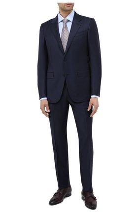 Мужская хлопковая сорочка ERMENEGILDO ZEGNA голубого цвета, арт. 801212/9RS0BR | Фото 2