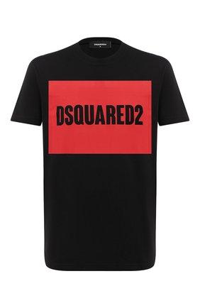 Мужская хлопковая футболка DSQUARED2 черного цвета, арт. S74GD0720/S22427 | Фото 1