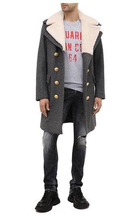 Мужская футболка из хлопка и вискозы DSQUARED2 серого цвета, арт. S74GD0738/S22146 | Фото 2