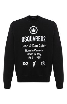Мужской хлопковый свитшот DSQUARED2 черного цвета, арт. S74GU0425/S25042 | Фото 1