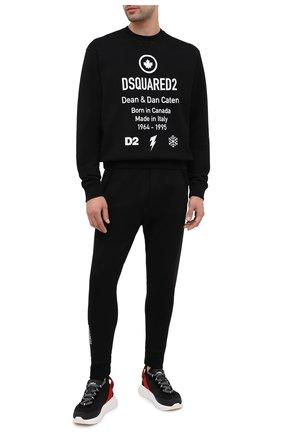 Мужской хлопковый свитшот DSQUARED2 черного цвета, арт. S74GU0425/S25042 | Фото 2