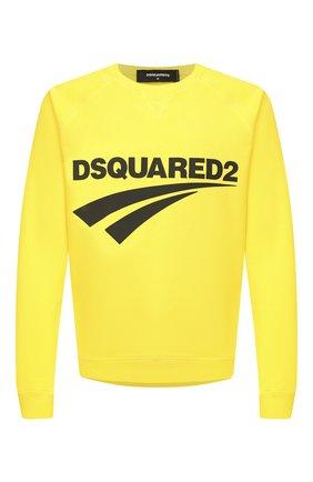 Мужской хлопковый свитшот DSQUARED2 желтого цвета, арт. S74GU0451/S25030 | Фото 1
