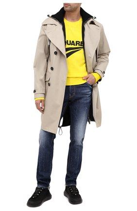 Мужской хлопковый свитшот DSQUARED2 желтого цвета, арт. S74GU0451/S25030 | Фото 2