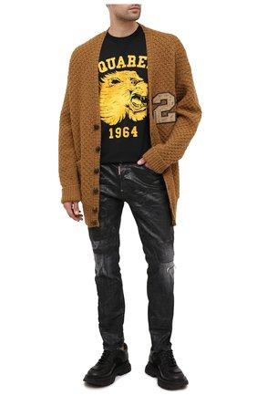 Мужская шерстяной кардиган DSQUARED2 светло-коричневого цвета, арт. S74HA1084/S17409   Фото 2