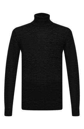 Мужской шерстяная водолазка DSQUARED2 черного цвета, арт. S74HA1104/S16794 | Фото 1