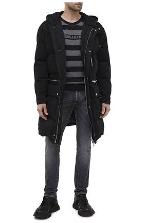 Мужской шерстяной джемпер DSQUARED2 темно-серого цвета, арт. S74HA1118/S17415 | Фото 2