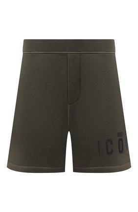 Мужские хлопковые шорты DSQUARED2 хаки цвета, арт. S79MU0007/S25042 | Фото 1