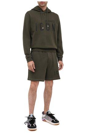 Мужские хлопковые шорты DSQUARED2 хаки цвета, арт. S79MU0007/S25042 | Фото 2
