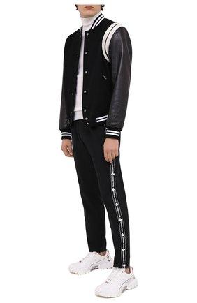 Мужской шерстяные брюки DSQUARED2 черного цвета, арт. S74KB0449/S40320 | Фото 2