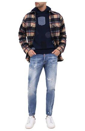 Мужские джинсы DSQUARED2 синего цвета, арт. S74LB0748/S30342 | Фото 2