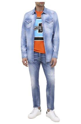 Мужские джинсы DSQUARED2 синего цвета, арт. S74LB0749/S30342 | Фото 2